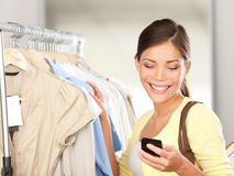 Modern woman shopping royalty free stock photos