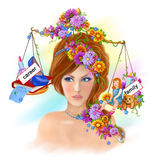 Modern Woman Strong And Beautiful Chooses A Family And Career Royalty Free Stock Photos