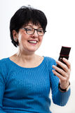 Modern woman using mobile phone Stock Photos