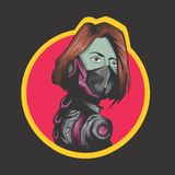 Modern women fighter royalty free illustration