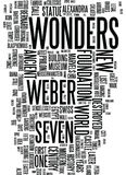 Modern Wonders Text Background Word Cloud Concept Stock Images