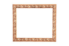 Modern wood frame painted gold Royalty Free Stock Photo