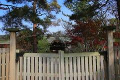 Modern wood gate Stock Photo