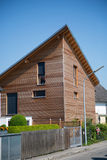 Modern wood house in germany Stock Photography