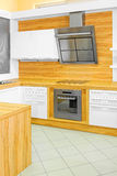 Modern wood kitchen Royalty Free Stock Image