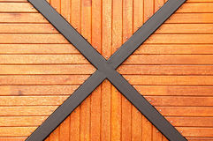Modern wood and metal frame Royalty Free Stock Photo