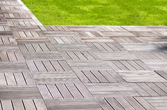 Modern wood pavement Stock Photography