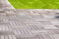 Modern wood pavement Stock Photography