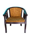 Modern wooden armchair Royalty Free Stock Images