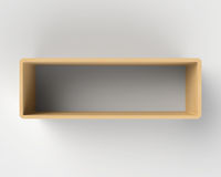Modern Wooden Book Shelf on the Wall Stock Image
