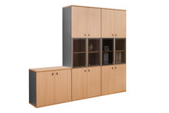 Modern Wooden Bookcase Stock Image