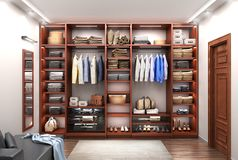 modern wooden cabinet w Royalty Free Stock Photo