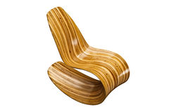 Modern wooden chair Royalty Free Stock Images