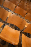 Modern wooden chairs Stock Photos
