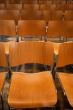 Modern wooden chairs Stock Photography