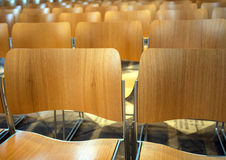 Modern wooden chairs Royalty Free Stock Image