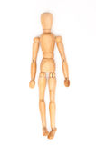 Modern wooden doll Stock Image