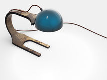Modern wooden electric lamp 3d model Stock Photos
