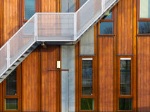 Modern wooden facade Stock Photos