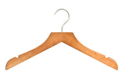 Modern Wooden Hanger Royalty Free Stock Image