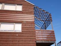 Modern wooden house Stock Image