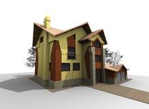 Modern Wooden House Stock Photo