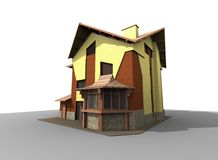 Modern wooden house Royalty Free Stock Photo