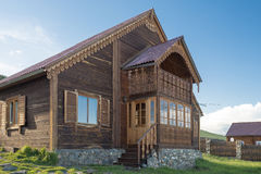 Modern wooden house Stock Photos