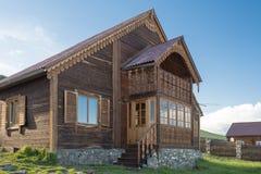 Modern wooden house Stock Photos