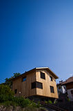 Modern wooden house in Italian Alps Royalty Free Stock Image