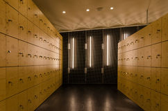 Modern Wooden locker Stock Photo