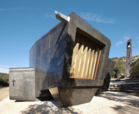 Modern wooden and metallic chapel. San Olav. Covarrubias. Spain Royalty Free Stock Image