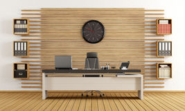 Modern wooden office Royalty Free Stock Photography