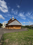 Modern Wooden Orthodox church in Moscow, Russia Royalty Free Stock Photos