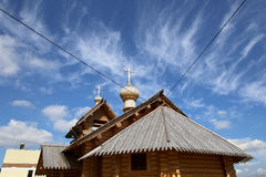Modern Wooden Orthodox church in Moscow, Russia Royalty Free Stock Photography