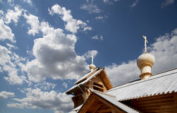 Modern Wooden Orthodox church in Moscow, Russia Royalty Free Stock Images