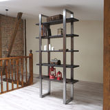 Modern wooden rack in the loft interior Stock Photography