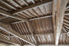 Modern wooden roof Stock Photos