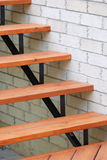 Modern wooden stairs Royalty Free Stock Photos