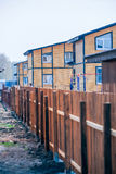 Modern wooden two-storey houses Stock Photo