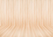Modern wooden wall and floor in the wooden room background and t Stock Photo