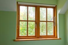 Modern Wooden window Stock Photo