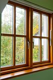 Modern Wooden window Royalty Free Stock Photos