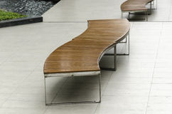 Modern woodern bench Stock Images