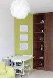 Modern woonkamer binnenlands ontwerp. Royalty-vrije Stock Foto