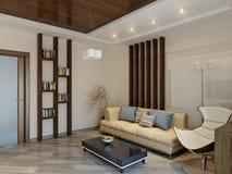 Modern woonkamer binnenlands ontwerp Royalty-vrije Stock Afbeeldingen