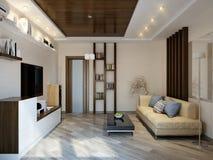 Modern woonkamer binnenlands ontwerp Royalty-vrije Stock Foto's