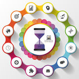 Modern work time management planning. Colorful infographics. Vector illustration Royalty Free Stock Images