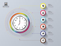 Modern work time management planning. Infographic design template. Vector illustration Royalty Free Stock Photography