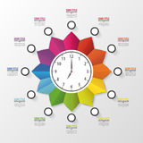 Modern work time management planning infographics Royalty Free Stock Photo